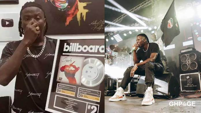 Stonebwoy awarded with a Billboard Plaque