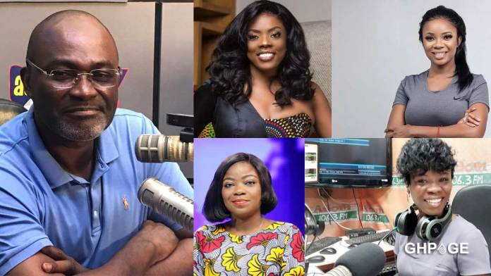 Kennedy Agyapong and Presenters