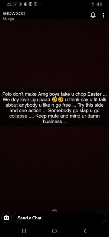 show - AMG Boys Would Use 'Juju' To 'Ch0p' Akuapem Poloo This Easter – Showboy Reveals