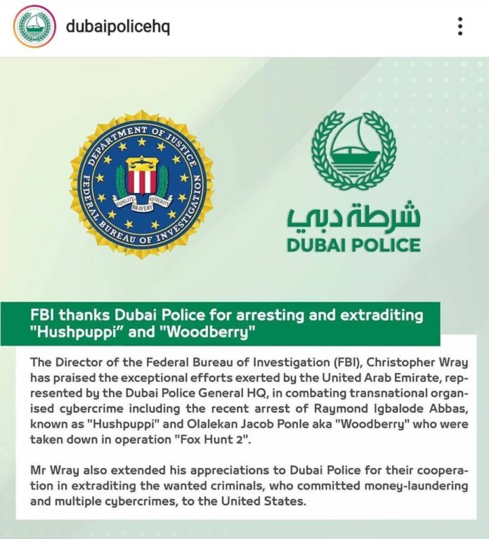 FBI AND DUBAI POLICE