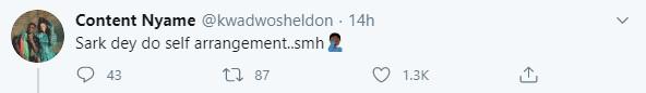 Sheldon's tweet