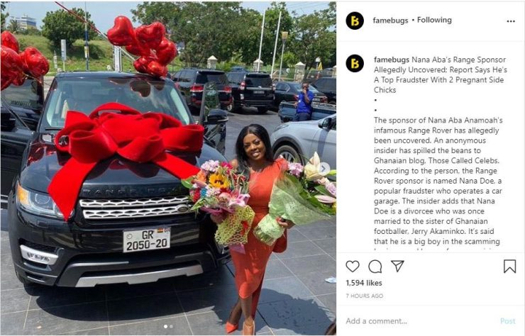 Nana Aba Anamoah's Range Rover Gift