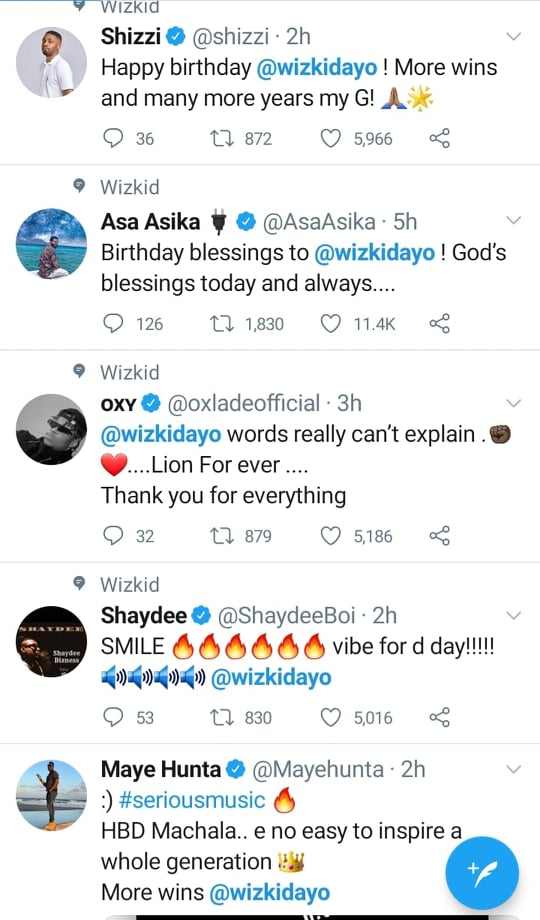 Record producer Shizzi also extends wishes