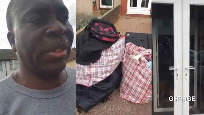man sacked from his house by wife