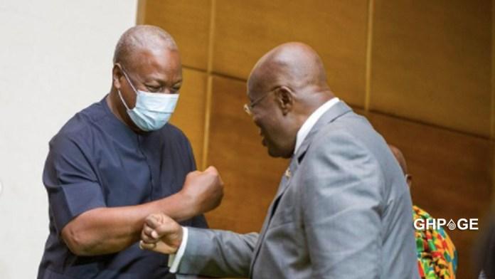 John Mahama and Akufo Addo