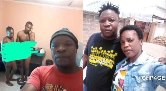 Man selfie cheating wife