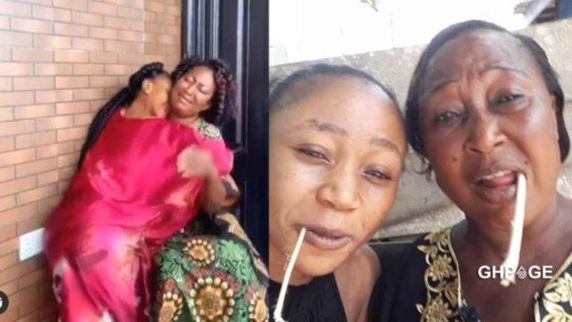Akuapem Poloo and mother