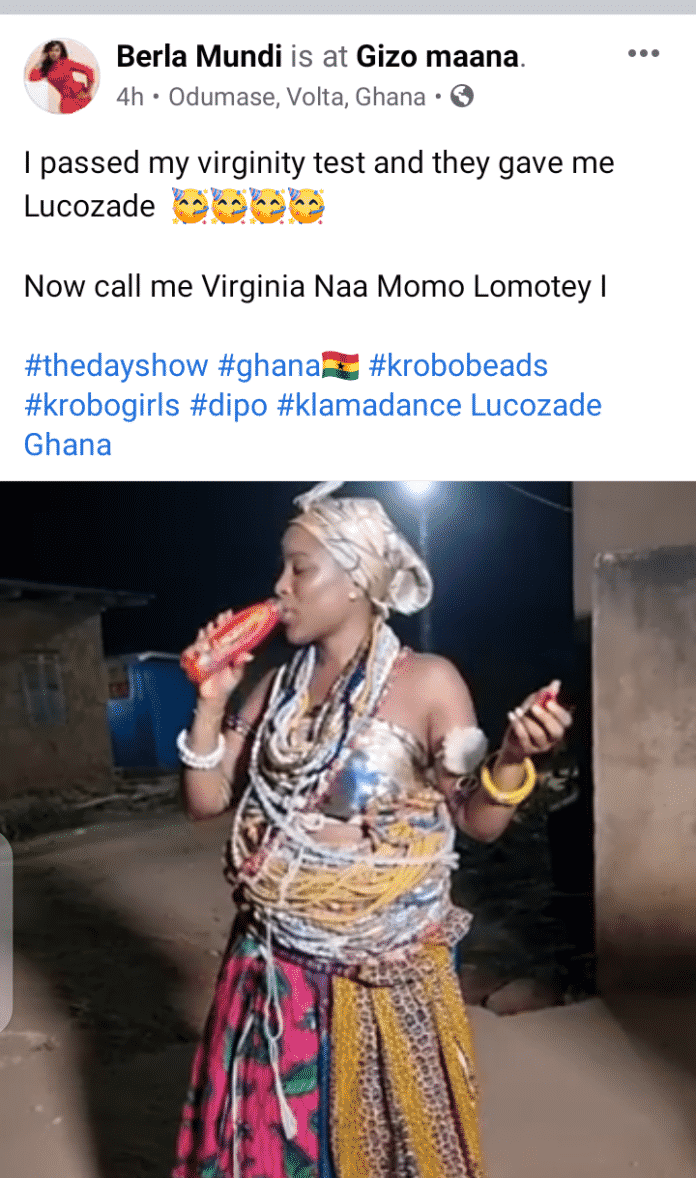 I passed my virginity test – Berla Mundi claims after 'performing' Dipo rites 3