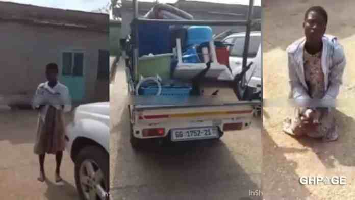 Housemaid caught in the act robbing her madam of everything