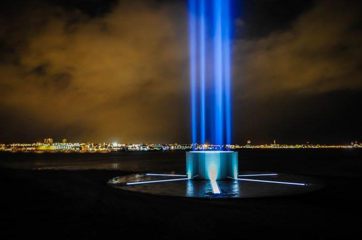 Peace Light John Lennon, Viðey, Iceland.