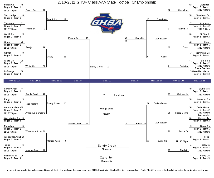 2010-2011 GHSA Class AAA State Football Championship