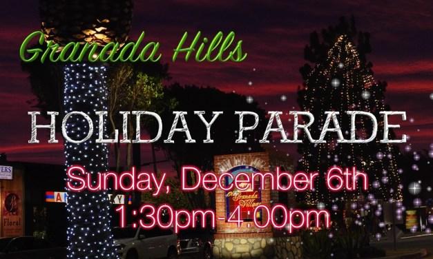 Video: Granada Hills Holiday Parade this Sunday, December 5