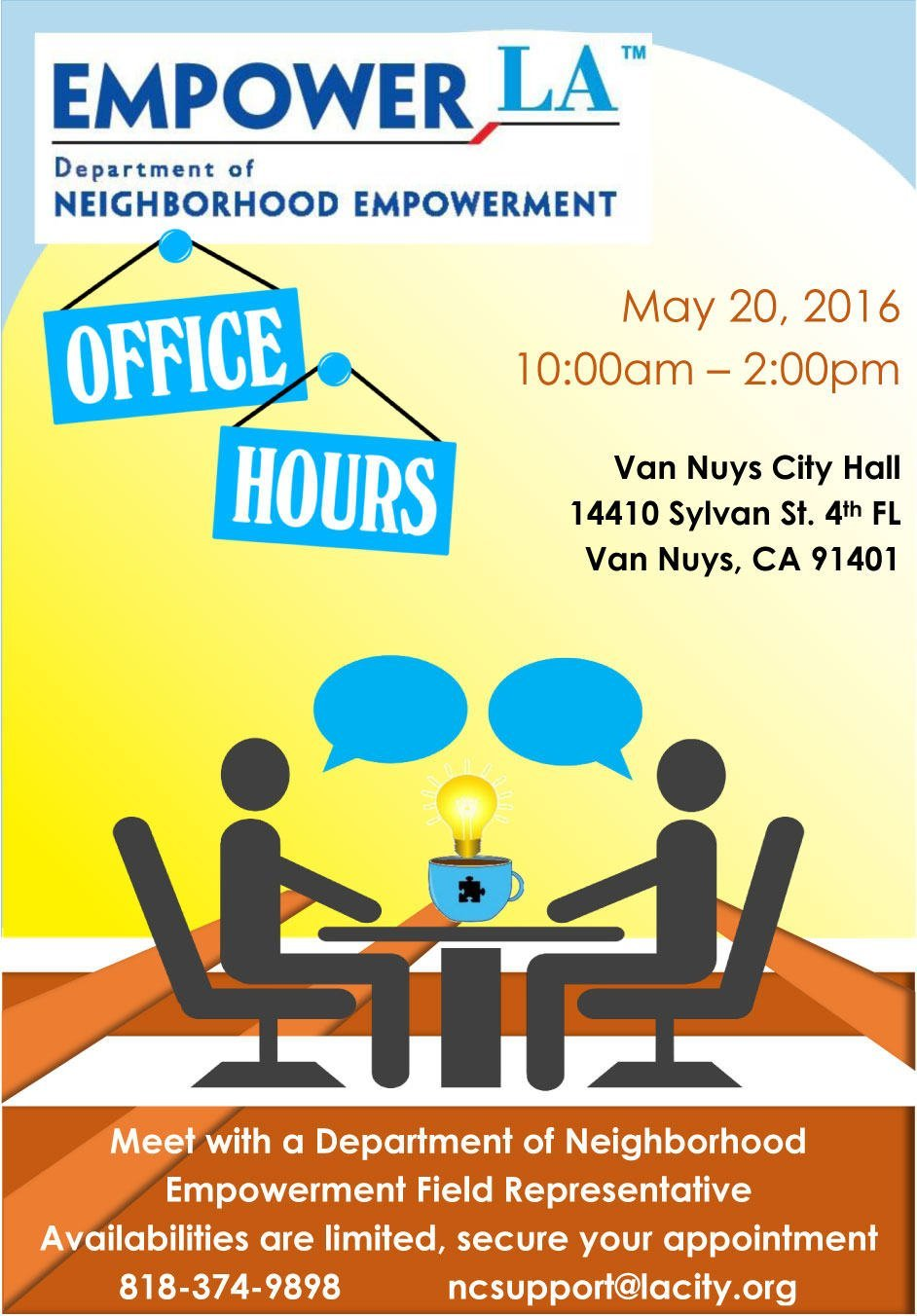 Department of Neighborhood Empowerment Office Hours May 20, 2016