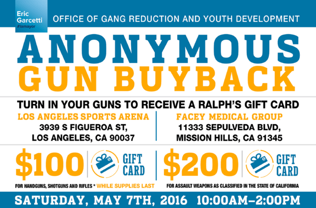 Gift Cards for Guns: City Hosts Anonymous Buyback Program