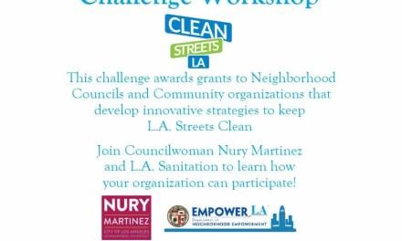 Clean Streets Challenge Workshop – August 25