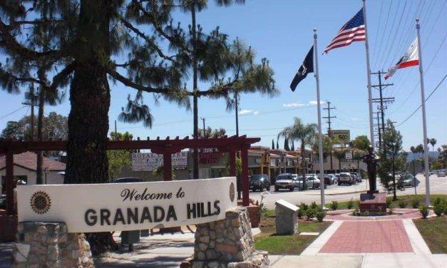 The Memorial Walkway on the Granada Hills Veterans Memorial Park