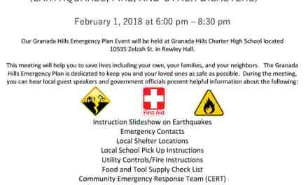 Granada Hills Emergency Plan Event
