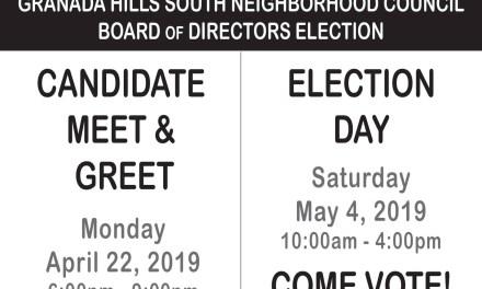 Granada Hills South Neighborhood Council Candidate Meet & Greet