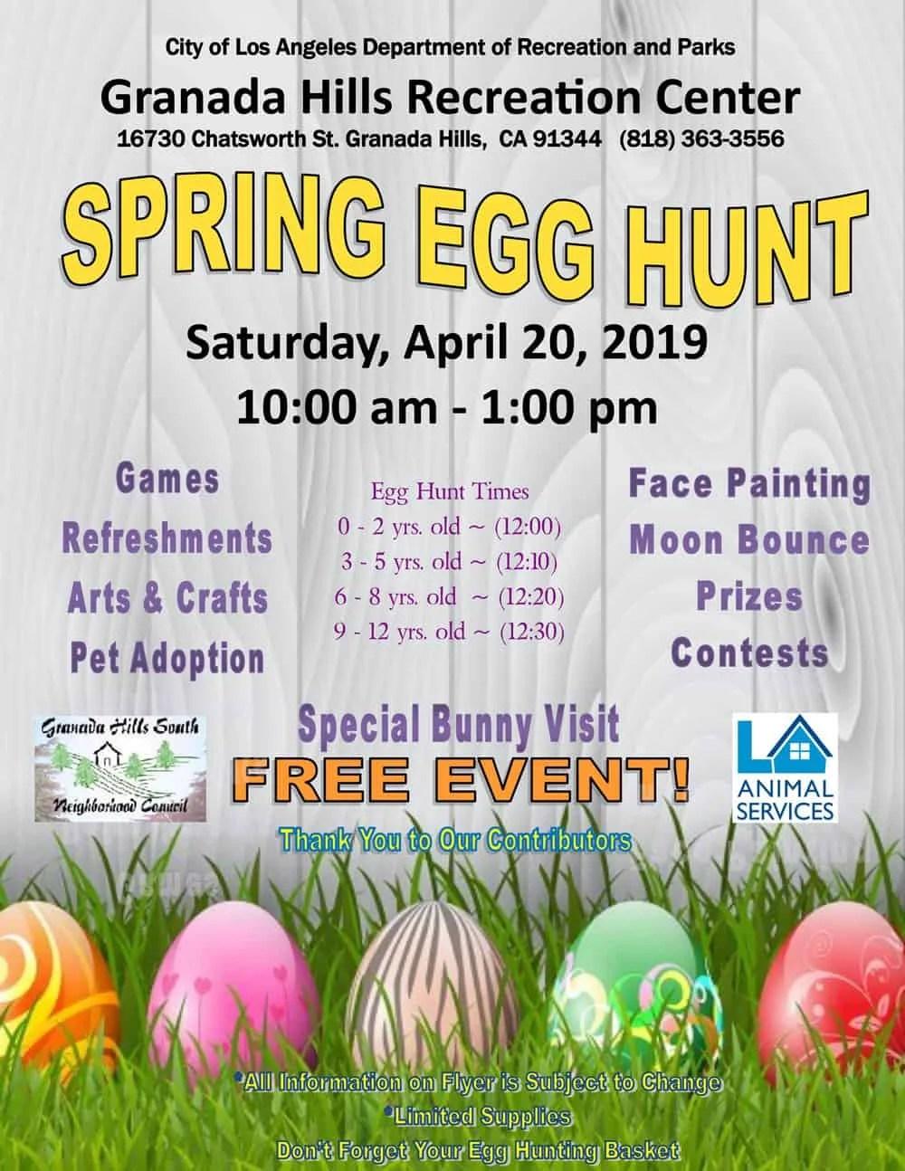 Granada Hills Spring Egg Hunt