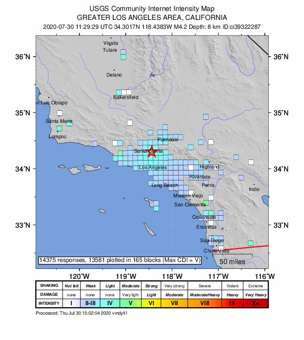 Earthquake Rattles Southern California Coast