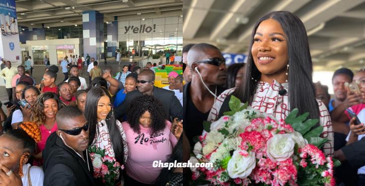 BB Naija Star, Tacha Arrives In Ghana