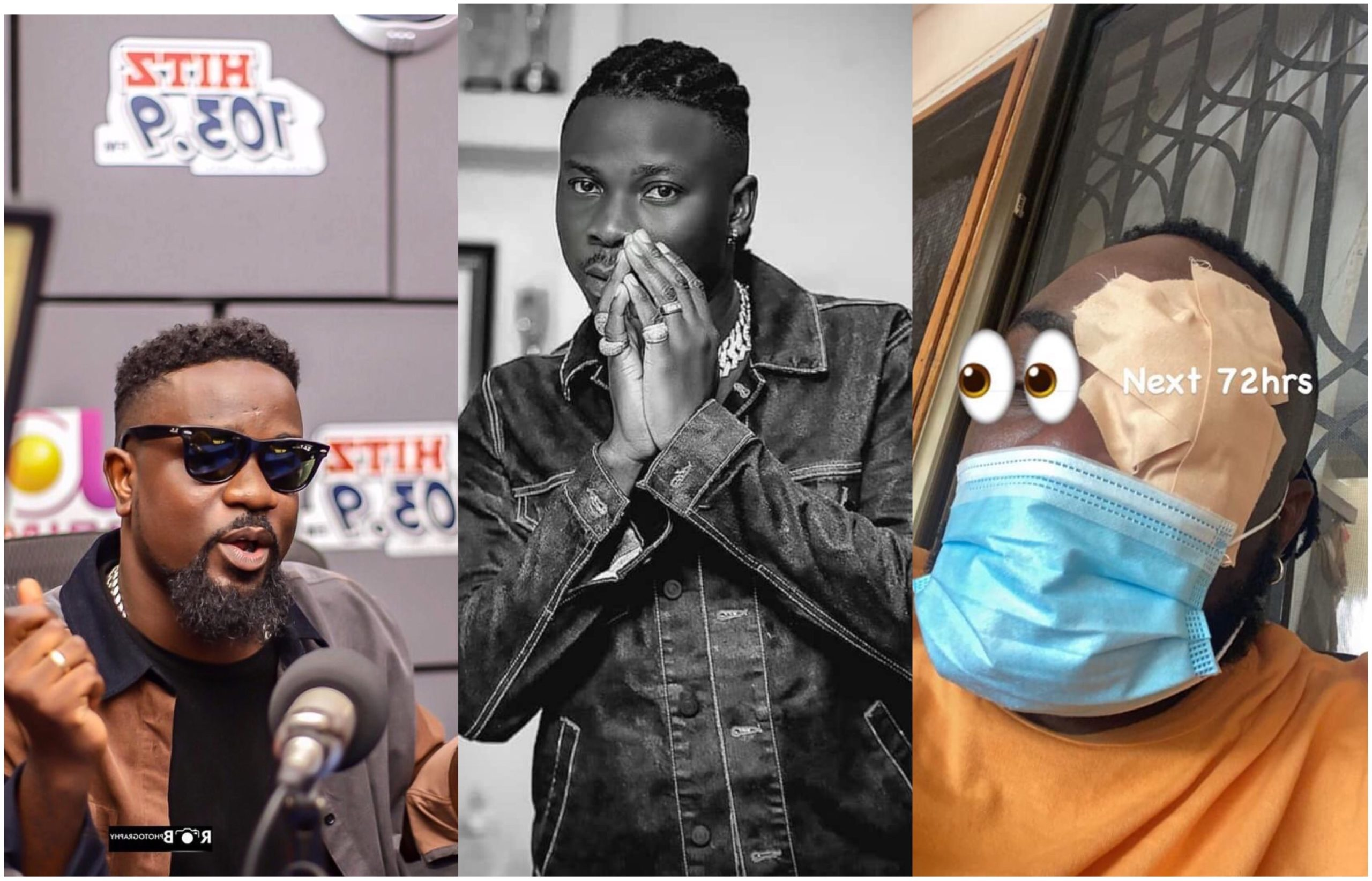 Sarkodie speaks for the first time after Stonebwoy damaged Angel's eye and reportedly pulled a gun in new photo