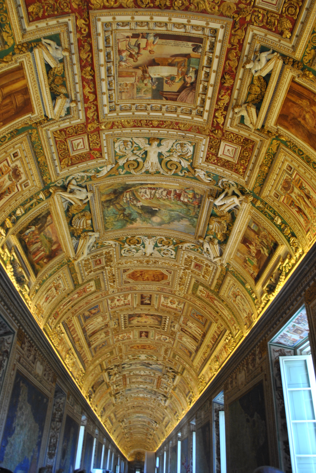 Roof paintings inside the Vatican Museums  Ghumakkar