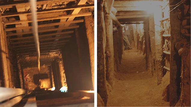 Những bức ảnh này cho thấy một phần hệ thống trục của mỏ Baw Mar.Ảnh của Hpone-Phyo Kan-Nyunt.