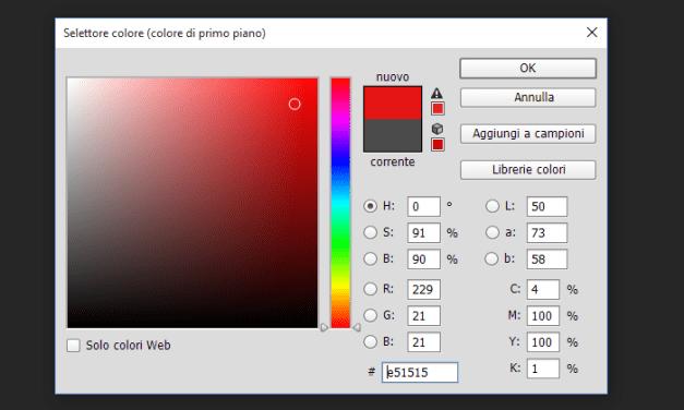 Il selettore colore