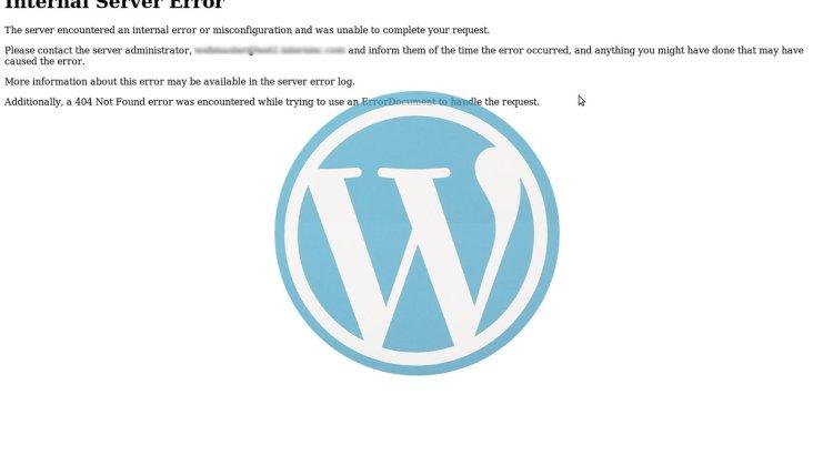 errore 500 su wordpress