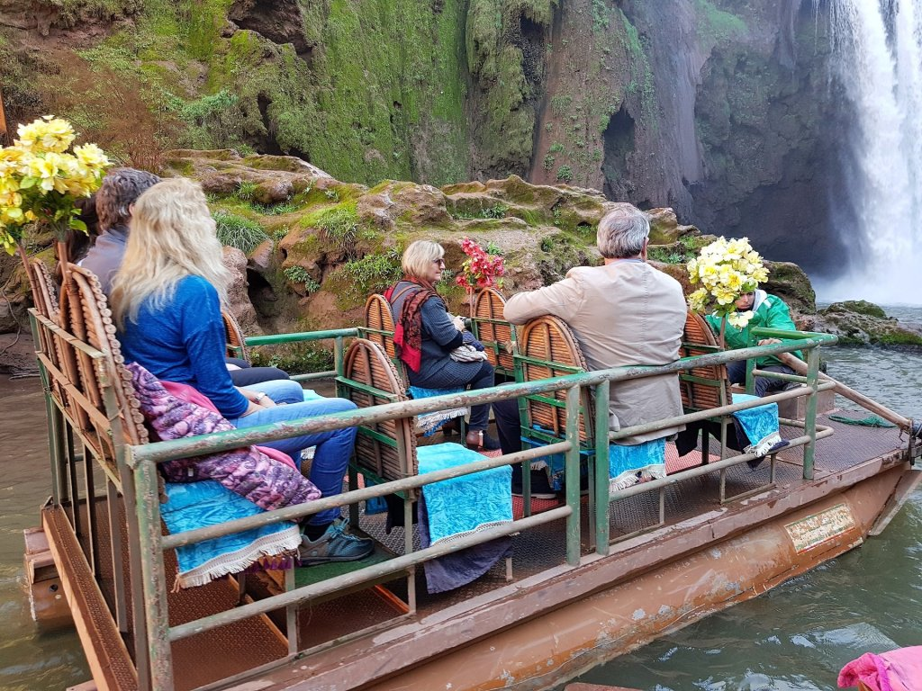 giro in barca cascata di ouzud