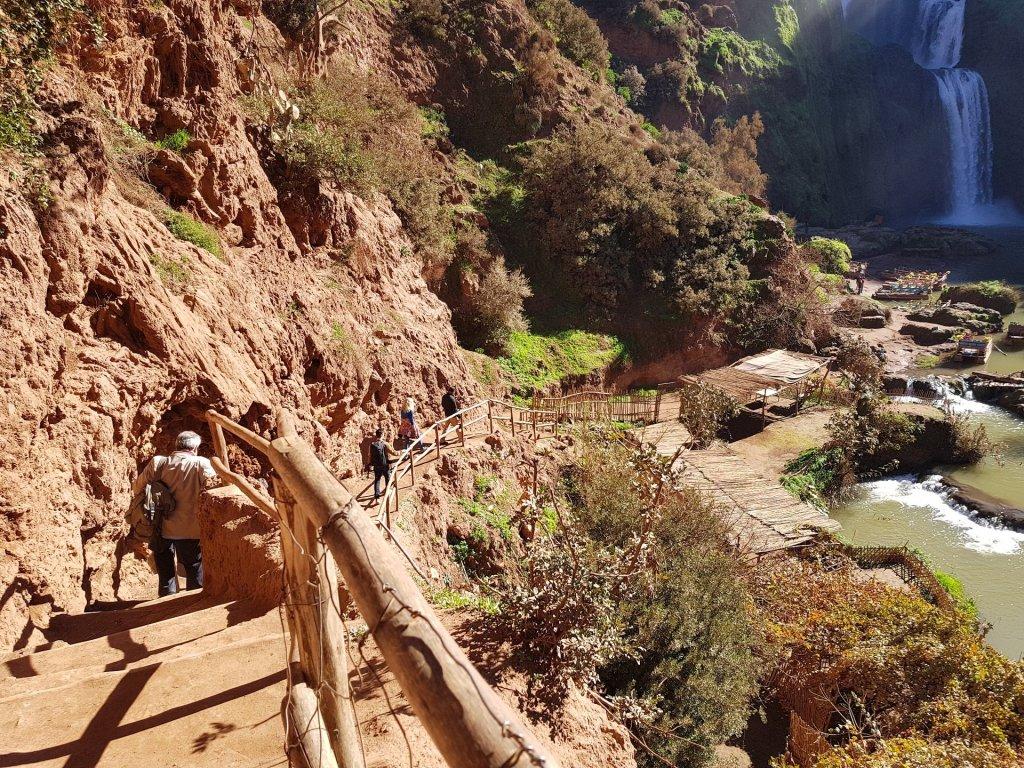 scalinata cascate di ouzud