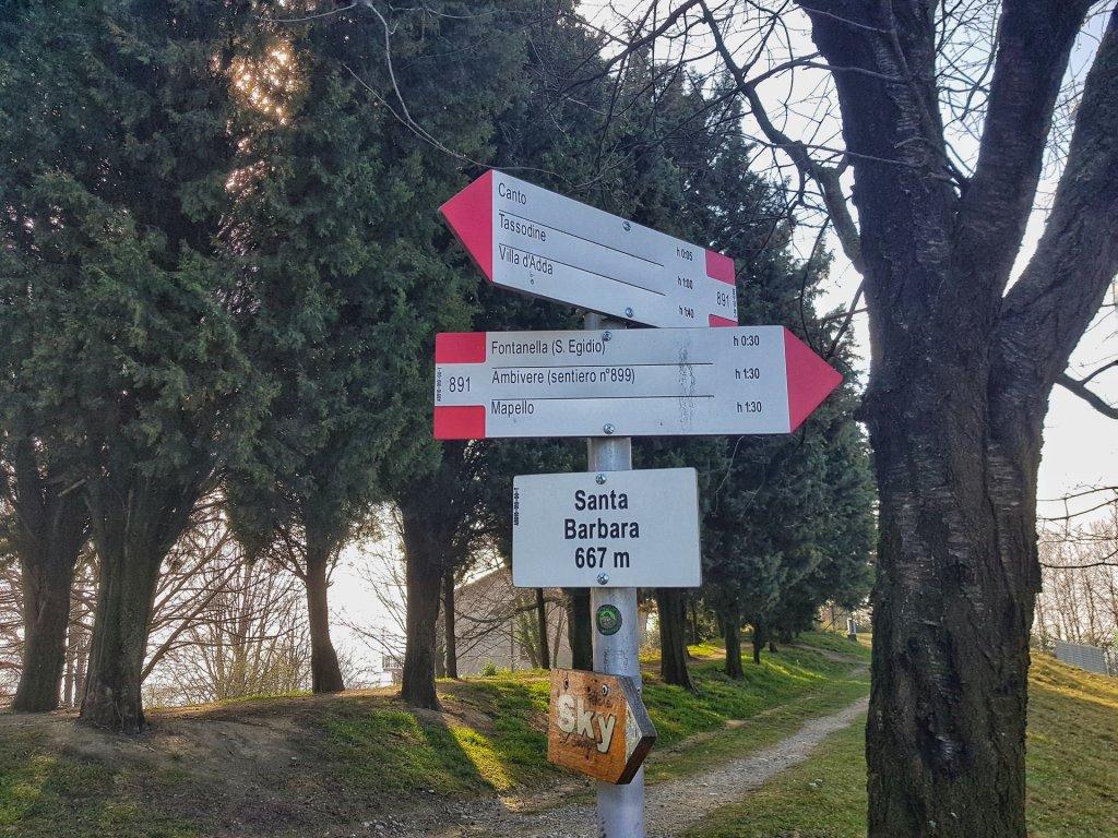 Sentiero 891 verso Fontanella