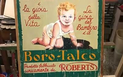 Riproduzione cartellone pubblicitario vintage