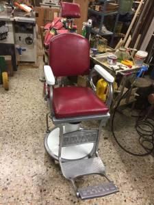 Poltrona barbiere marca Amata modello Balilla
