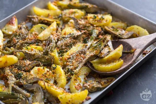 Ricetta Carciofi e patate  La Ricetta di GialloZafferano