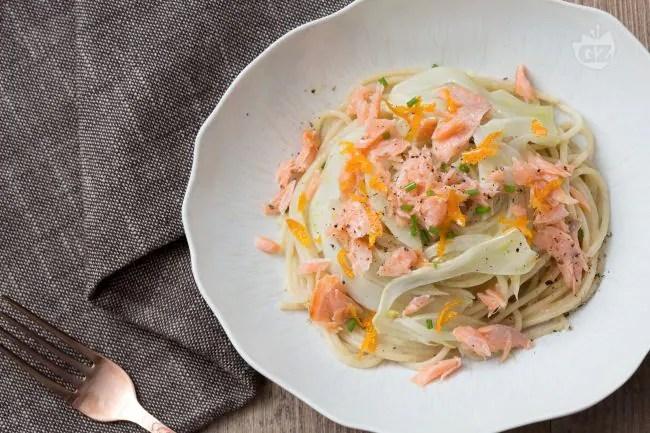 Ricetta Pasta al salmone con crema di porri  La Ricetta