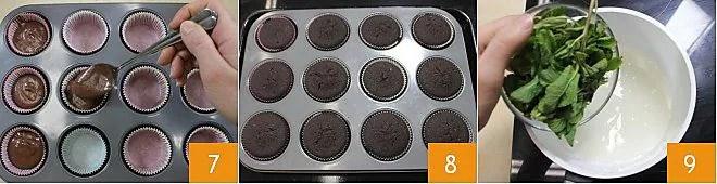 Cupcake menta e cioccolato
