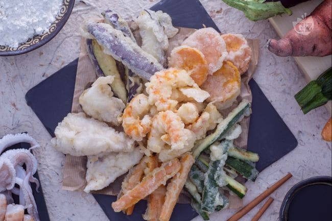 Ricetta Tempura di calamari e verdure  La Ricetta di GialloZafferano