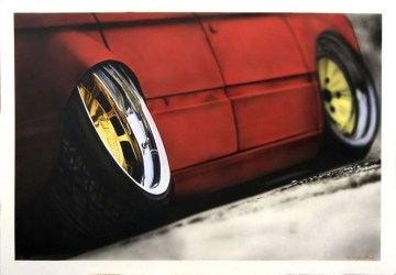 Chrome Wheel - Acrilico su Illustration Board - 70x50cm - 2015 - Giampiero Abate