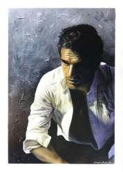 Male Portrait - Acrilico su Illustration Board - 35x50 cm - 2015 - Giampiero Abate