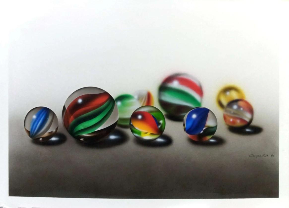 Biglie di Vetro - Acrilico su Illustration Board - 50x35 cm - 2013