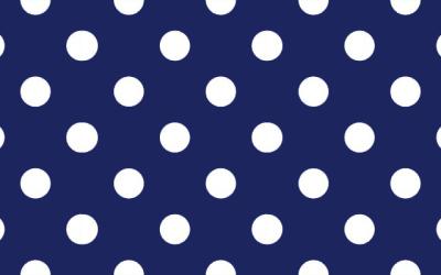 la cravatta a pois con pallini bianchi su sfondo blu