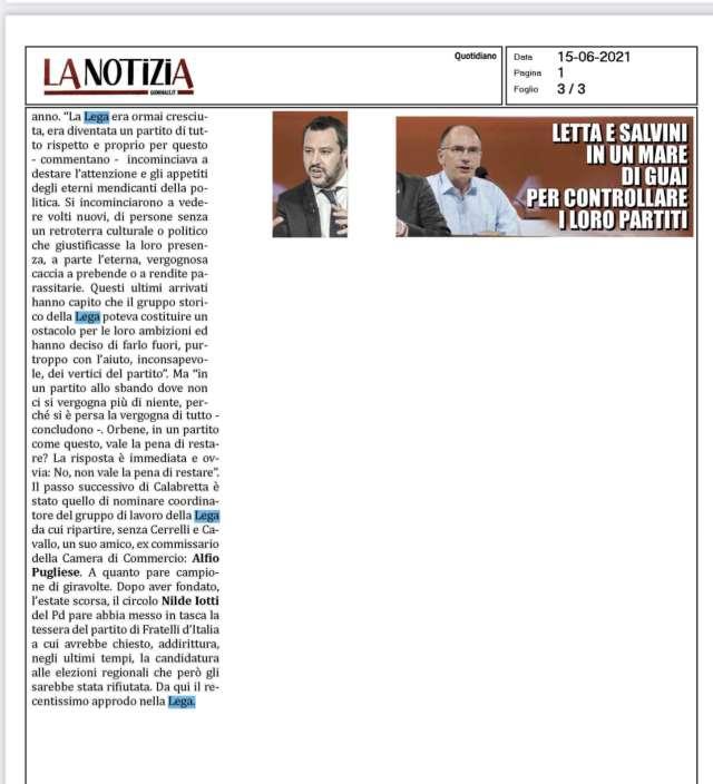 La Notizia Cerrelli Lega Crotone