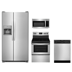 Frigidaire Kitchen Appliances Wall Panels 4 Piece Package Stainless Steel