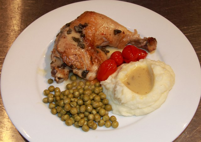 Chicken Fricassee with Garlic and Sage