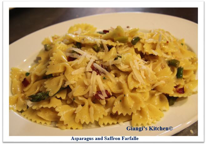 Asparagus and saffrom farfalle 2 copy
