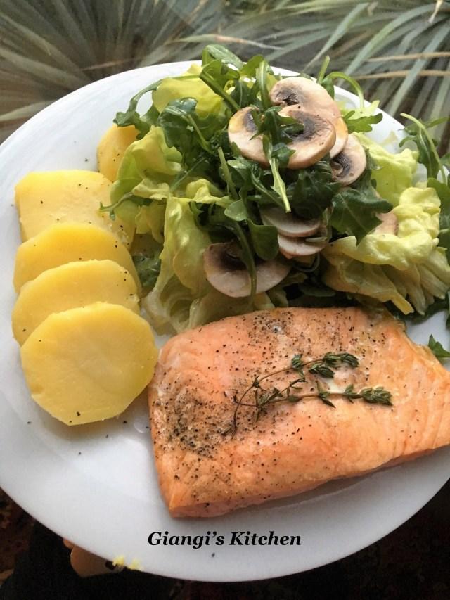 Salad of salamon and potatoes