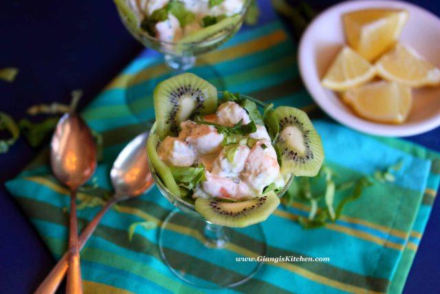 prawns with kiwi
