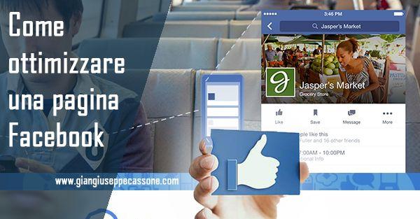 Promuovere su Facebook: come creare una pagina su Facebook ottimizzata